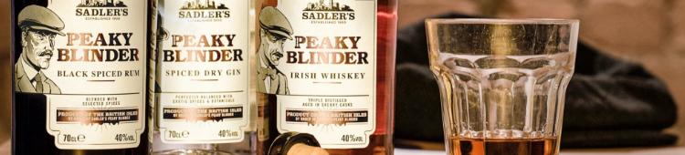 Peaky Blinder Whiskey, Gin og Rum