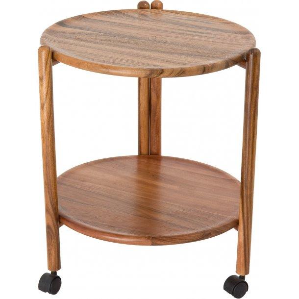 Bakkebord / rullebord i Akacietræ Ø47 H 52