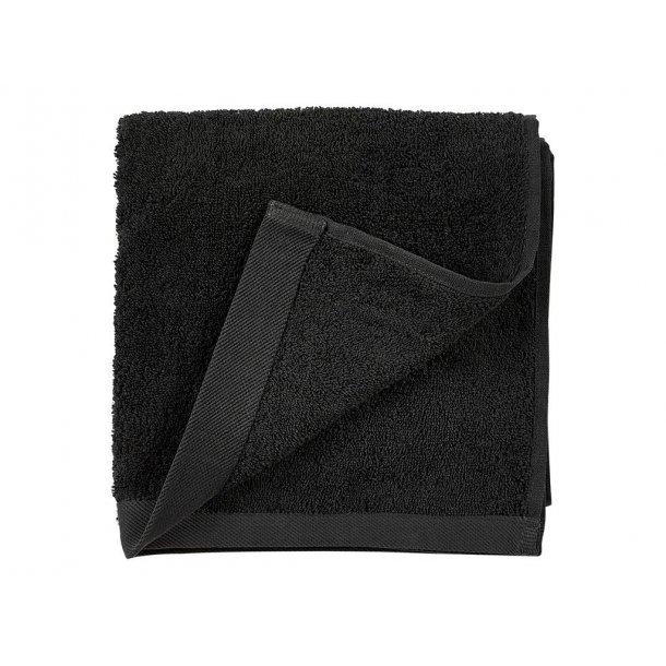 Södahl Comfort håndklæde i ren øko bomuld - sort - 4 størrelser
