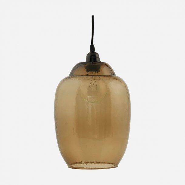 House Doctor Goal Lampeskærm i mundblæst glas Ø22cm - Smokey grey