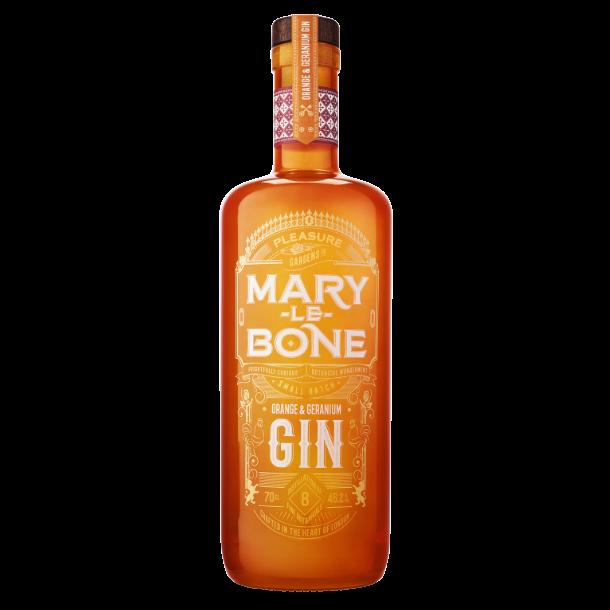 Mary-Le-Bone Orange og Geranium Gin Handcrafted small batch, 46,2% vol. 70cl