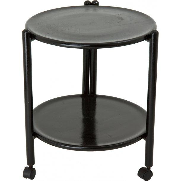 Bakkebord / rullebord  Ø47 H 52 Gummitræ, Parawood sort
