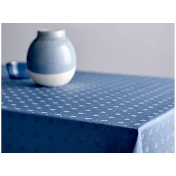 Södahl Squares damask dug, staincoat - China Blue - Mange størrelser