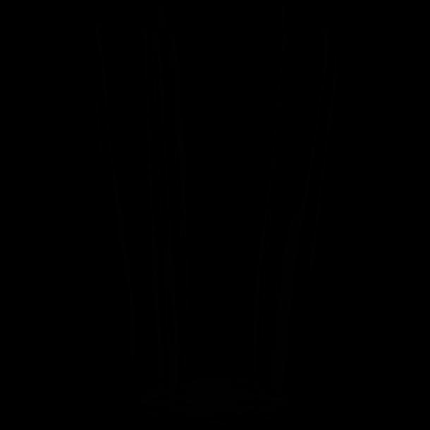 iittala Aalto Vase i mundblæst krystal 25 cm - flere farver