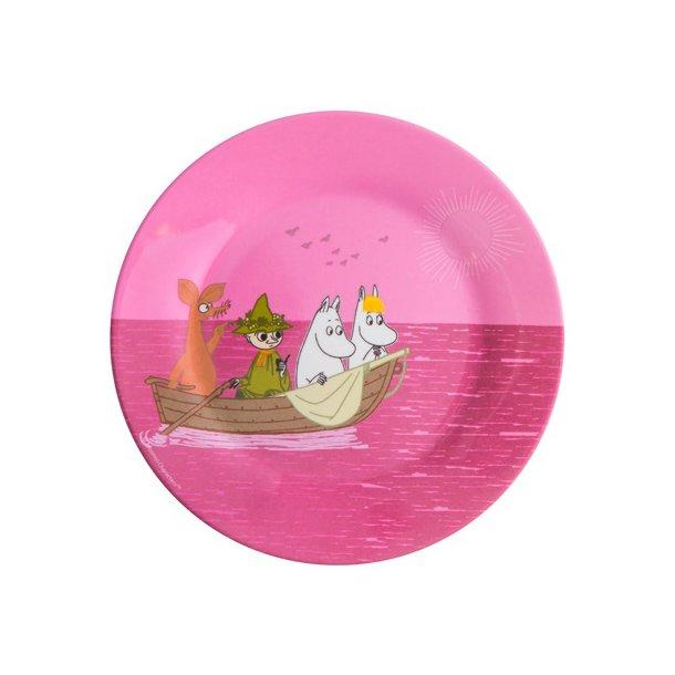 Rätt Start Mumi Tallerken i melamin, Havet, Pink