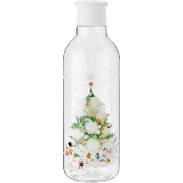 RIG-TIG x Moomin DRINK-IT vandflaske, hvid med vintermotiv