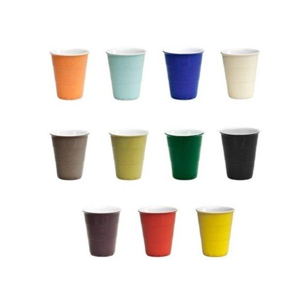 Excel Kaffekrus i porcelæn, design engangskrus - small - 4 farver