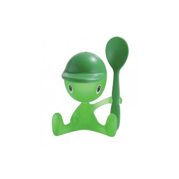 Alessi Cico Æggebæger med Ske - Grøn med grøn ske