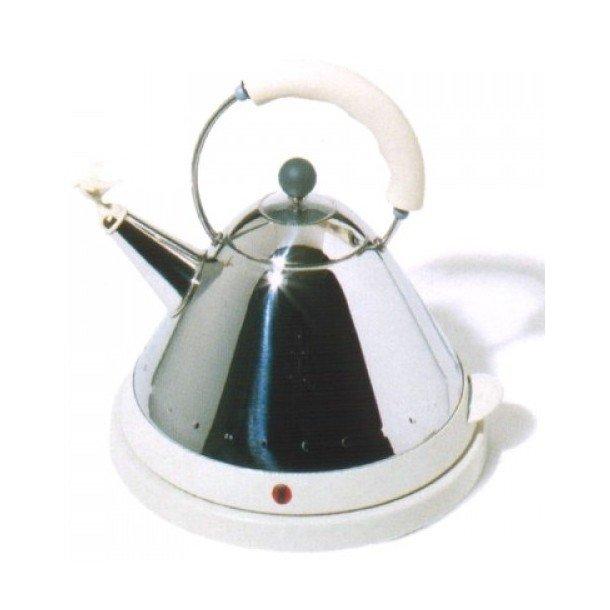 Alessi Bird Whistle MG32 El-kedel i rustfri stål, 1,5 liter - hvid