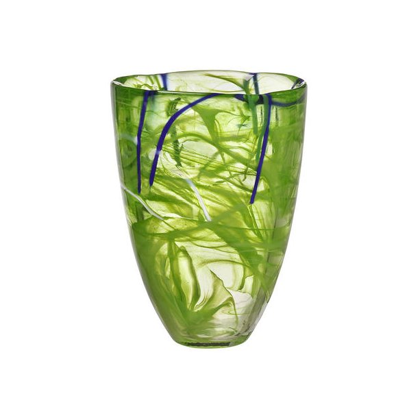 Kosta Boda Contrast vase 200 mm - lime