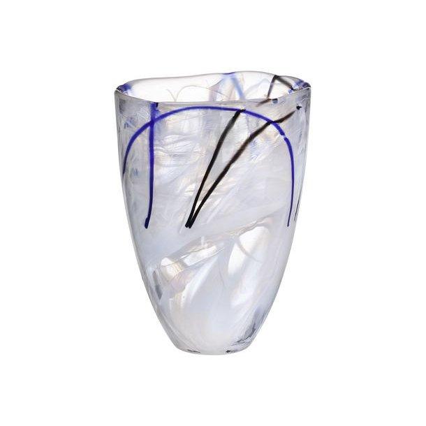 Kosta Boda Contrast vase 200 mm - hvid