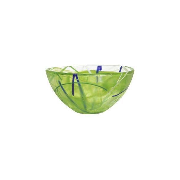 Kosta Boda Contrast skål i glas - lime - 3 størrelser