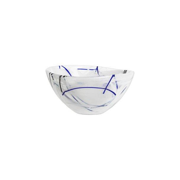 Kosta Boda Contrast Skål i glas - hvid - 3 størrelser
