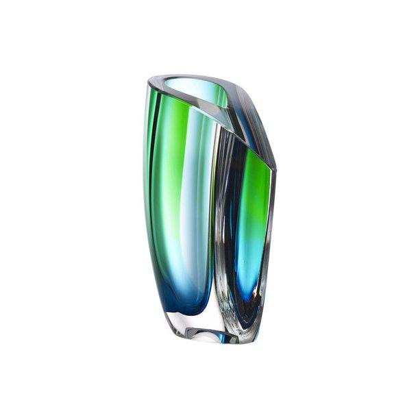 Kosta Boda Mirage vase 210 mm - grøn / blå