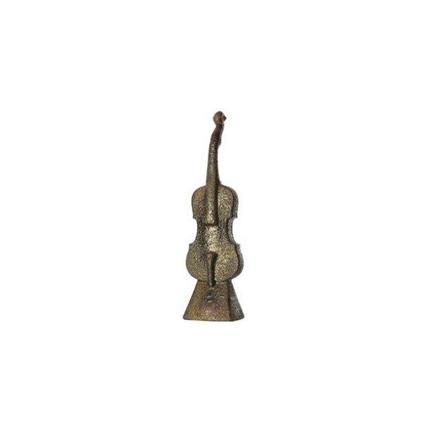 Kosta Boda The Band håndlavet skulptur - Violin guld