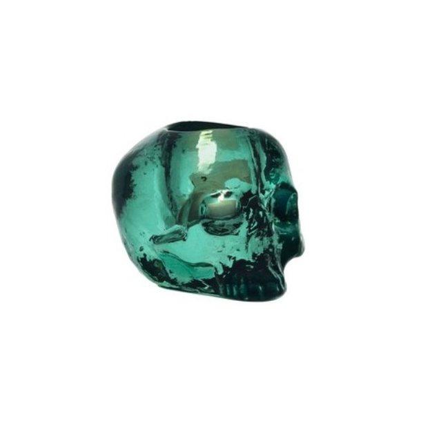 Kosta Boda Still Life Skull fyrfadsstage - grøn