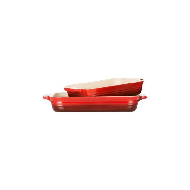 Le Creuset fadsæt med 2 rektangulære fade i 26 cm og 32 cm - 2 farver