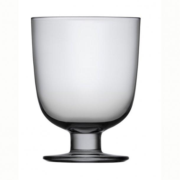 Lempi Glas 34 cl, mundblæst, 2 stk i æske - grå