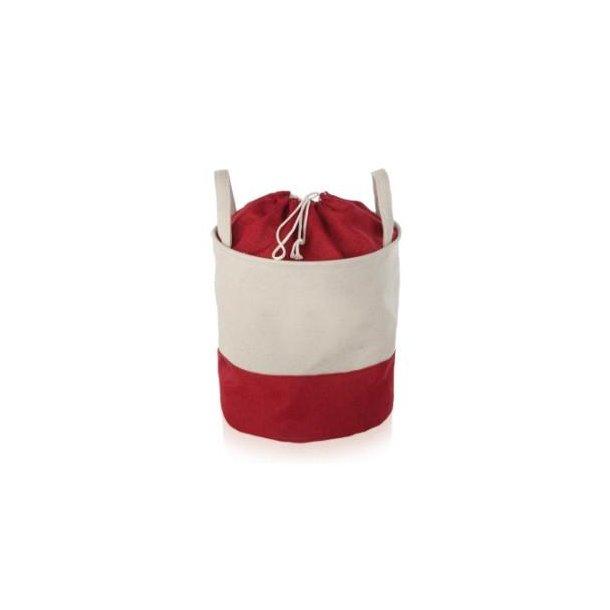 Möve Vasketøjssæk i canvas - rød
