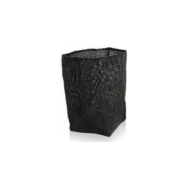Möve Tube Vasketøjekurv Large - sort - kunststof