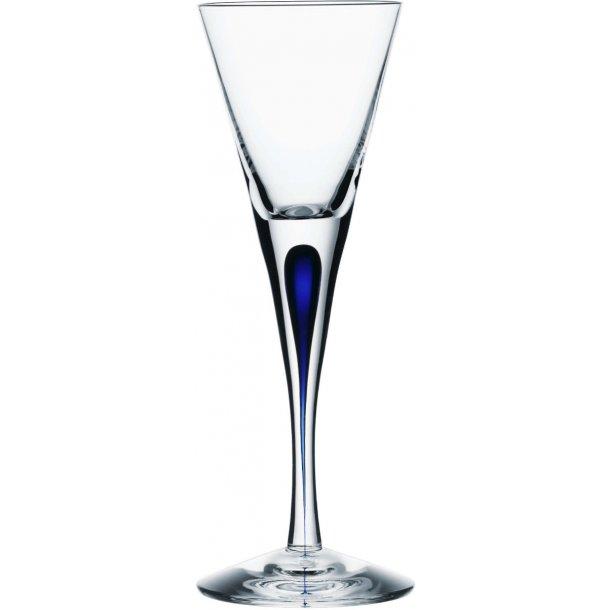 Orrefors Intermezzo Snapeglas 6 cl i krystal - blå
