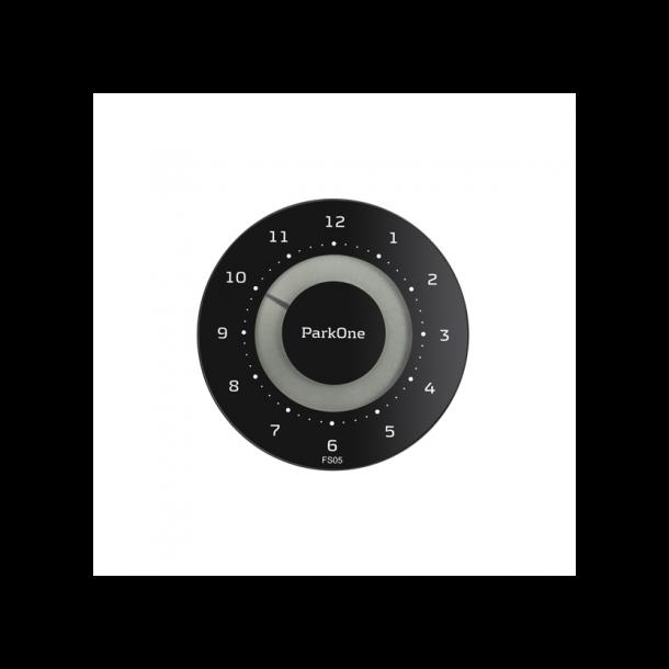 ParkOne elektronisk P-skive, sort