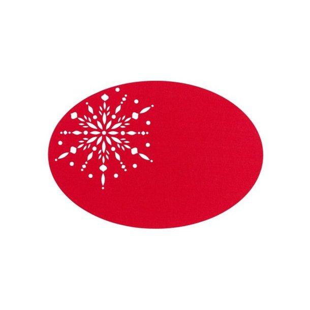 Södahl Crystal Dækkeserviet oval 48 x 33 cm (Rød)