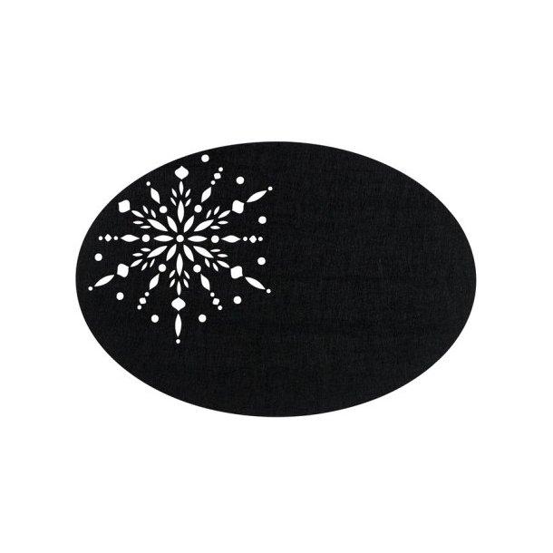 Södahl Crystal Dækkeserviet oval 48 x 33 cm (Sort)