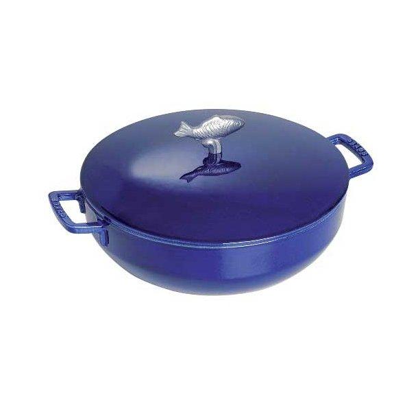 Staub Bouillabaise gryde i støbejern - 28 cm - blå