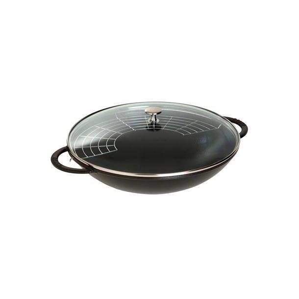 Staub wok i støbejern - Ø 37 cm / 5,7 liter - 3 farver
