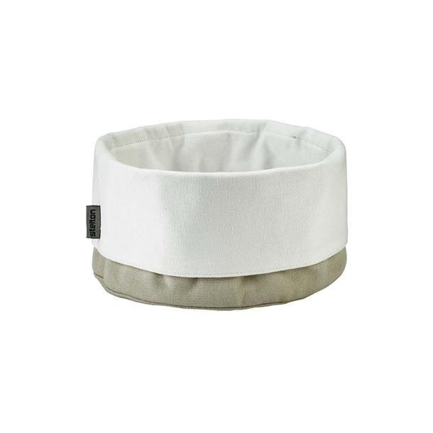 Stelton Brødpose - stor Ø 23 cm - sand / hvid