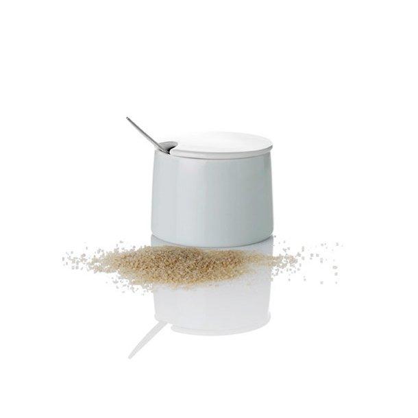 Stelton Emma Sukkerskål i porcelæn - 20 cl - med låg