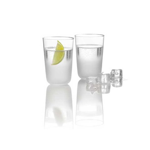 Stelton Frost Glas nr. 1 i mundblæst glas 270ml - 2 stk. i æske