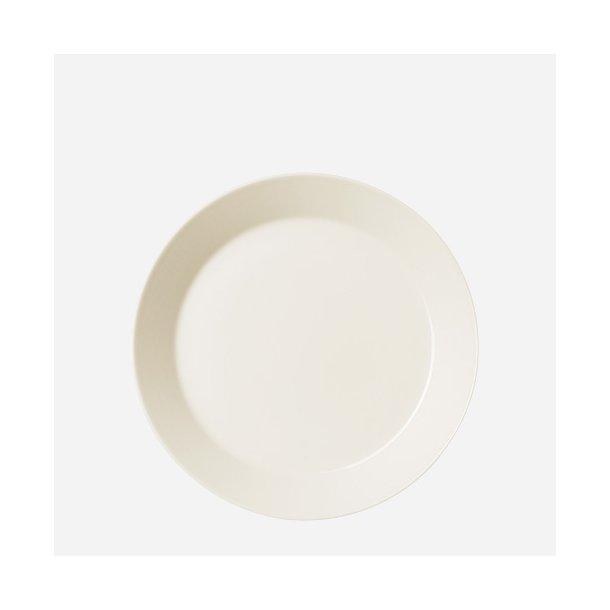 Teema tallerken, flad, 23 cm - hvid