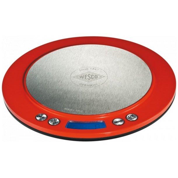 Wesco Køkkenvægt Rund Digital retro - til 5 kg- 4 farver