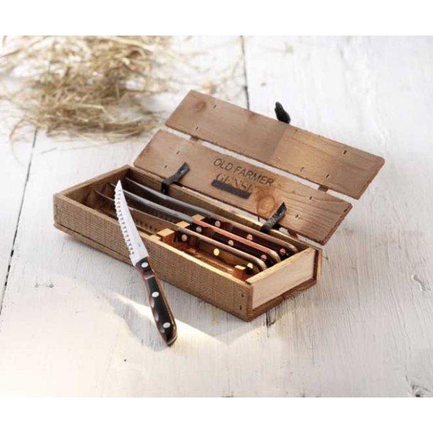 Gense Old Farmer Classic Grillbestik - 4 grillknive