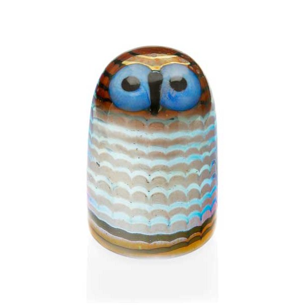 iittala Birds Ugleunge 7 x 10,5 cm - blå øjne