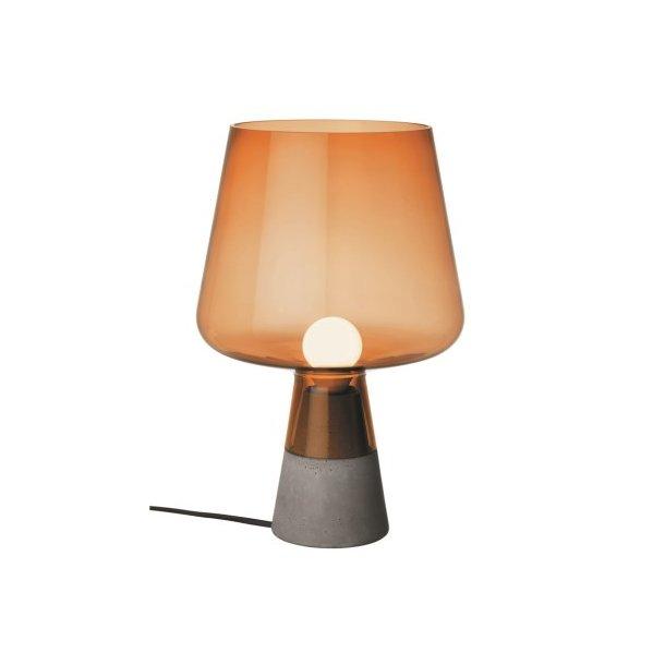 iittala Leimu Bordlampe, mundblæst glas og beton - stor kobber
