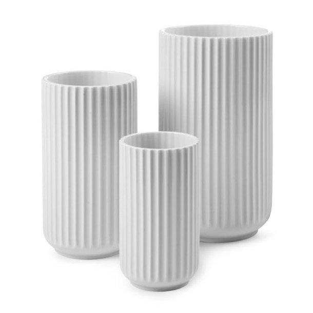 Lyngby Porcelæn Lyngbyvasen, porcelæn, hvid - mange størrelser