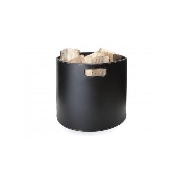 Ørskov Brændekurv - tønde - sort læder