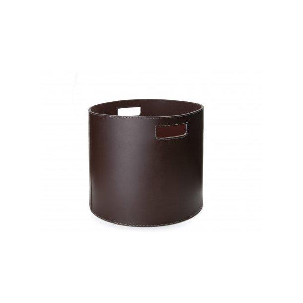 Ørskov Brændekurv - tønde - brun læder