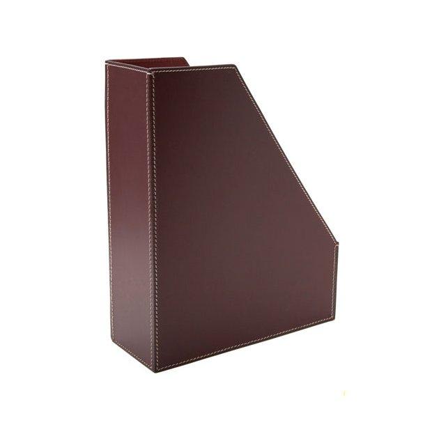 Ørskov Organizer / Magasinholder - brun læder