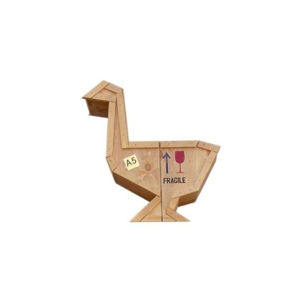 Seletti Sending Animals Reol / bord i råt træ - bestillingsvare - gås