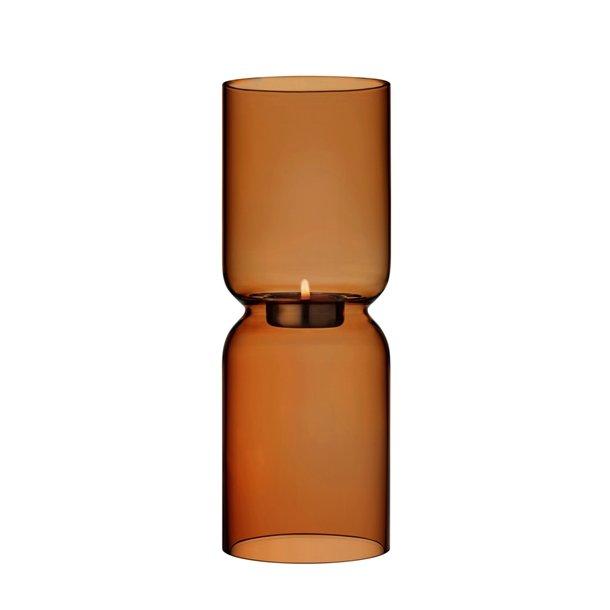 Iittala Lantern Fyrfadsstage mundblæst blyfri krystal - 25 cm - kobber