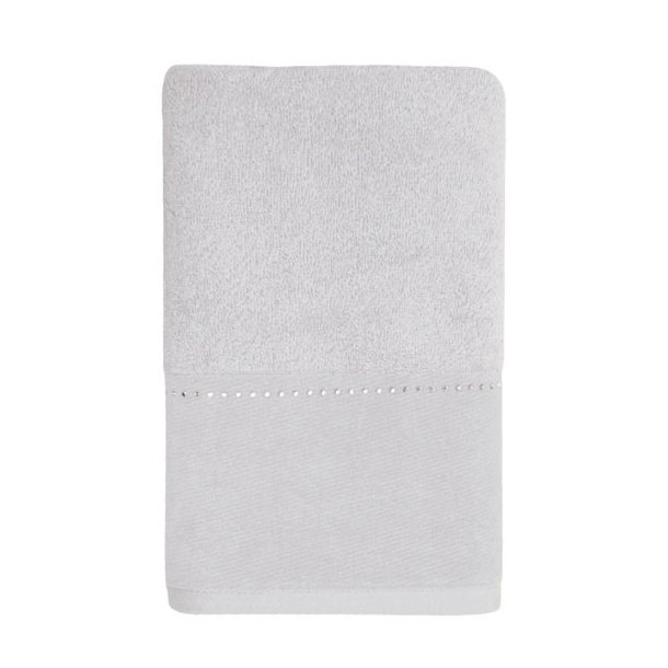 Möve Håndklæde i frotté - Swarovski linie - hvid - 30x50cm