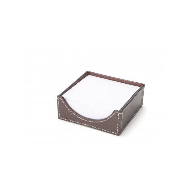 Ørskov NotePad-holder - brun læder