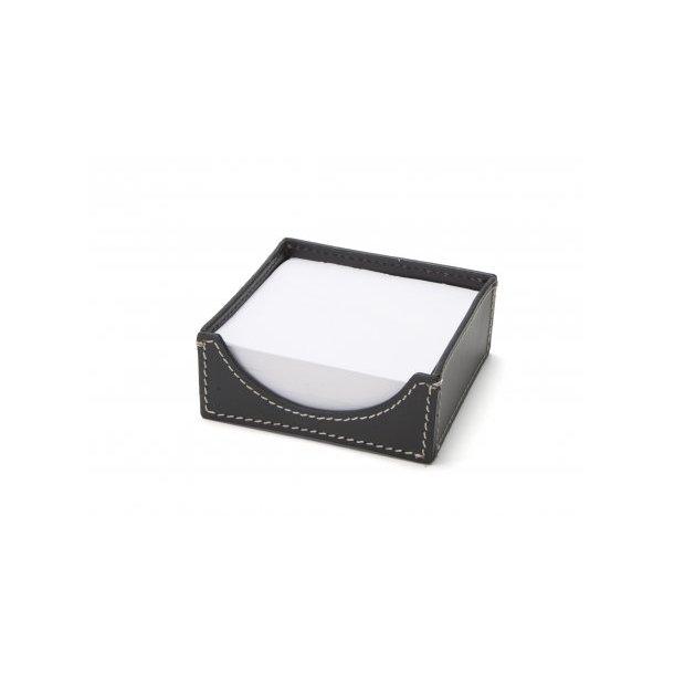 Ørskov NotePad-holder - sort læder W