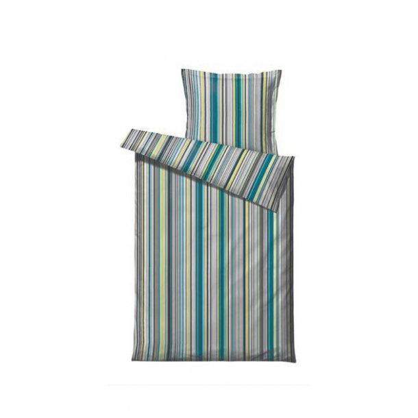 Södahl Ultimate Stripe sengesæt - 140x220cm - Lime
