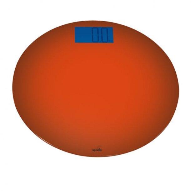 Spirella Bowl Badevægt rund - 33 cm - orange