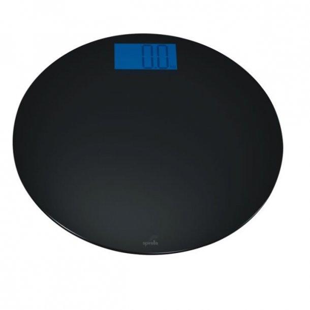 Spirella Bowl Badevægt rund - 33 cm - sort